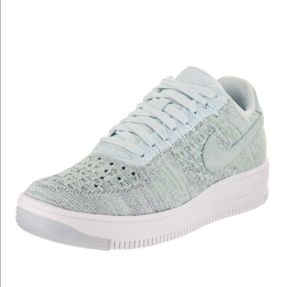 Nike FlyKnit Air Force 1 Low Glacier Blue